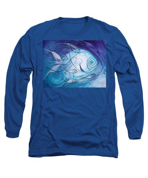 Seven Ichthus And A Heart Long Sleeve T-Shirt