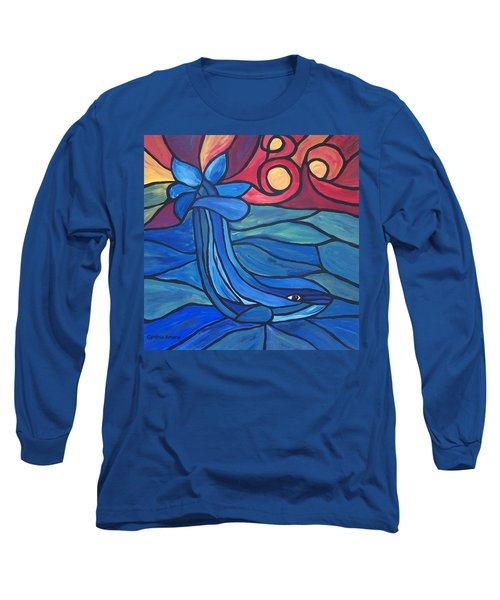 Long Sleeve T-Shirt featuring the painting Splash by Cynthia Amaral