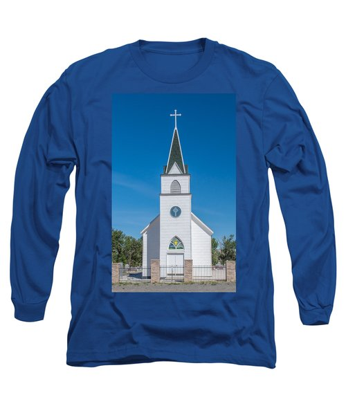 Long Sleeve T-Shirt featuring the photograph St. John The Evangelist Catholic Church by Fran Riley