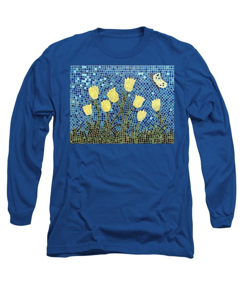 Long Sleeve T-Shirt featuring the painting Sunshine by Cynthia Amaral