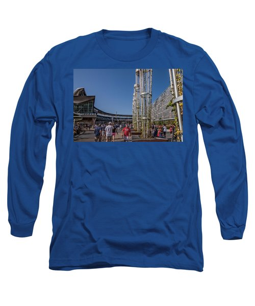 Long Sleeve T-Shirt featuring the photograph Target Plaza by Tom Gort