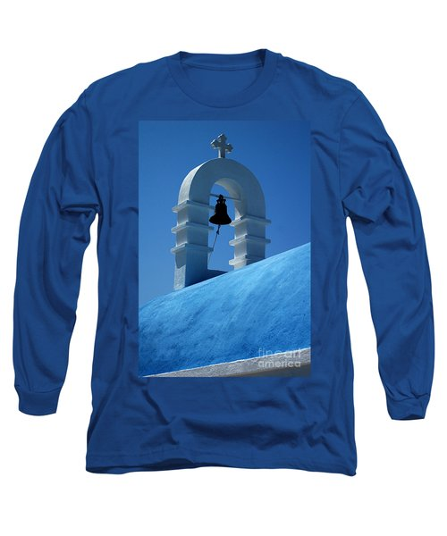 Long Sleeve T-Shirt featuring the photograph The Bell Tower In Mykonos by Vivian Christopher
