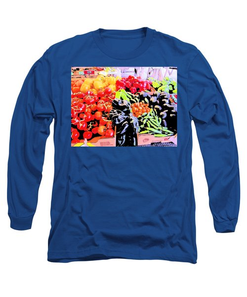 Long Sleeve T-Shirt featuring the photograph Vegetables On Display by Kym Backland