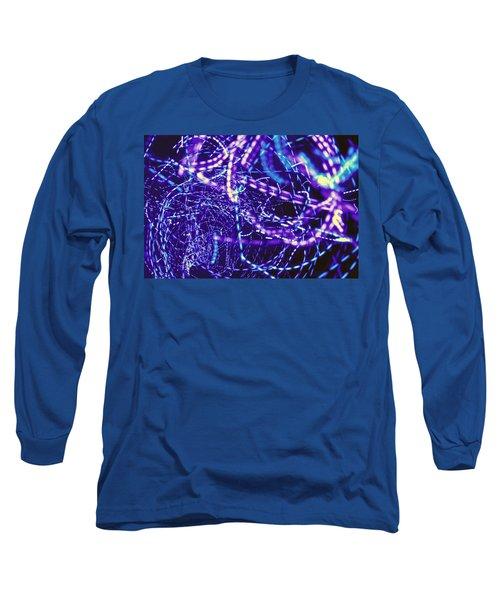 Violet Neon Lights Long Sleeve T-Shirt