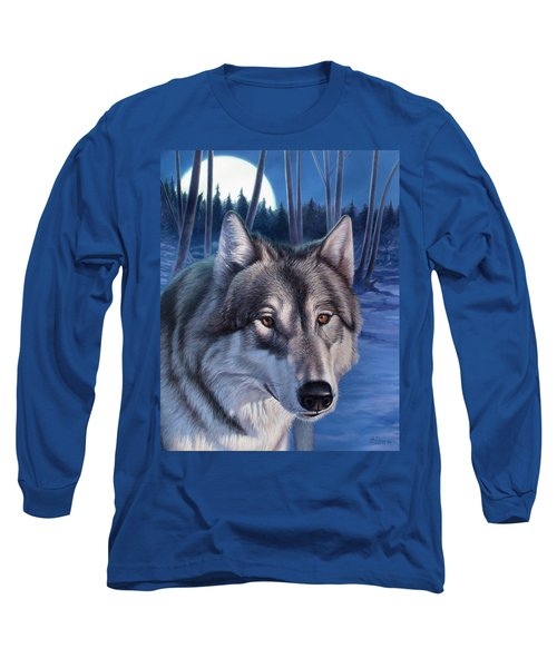 Wolf In Moonlight Long Sleeve T-Shirt
