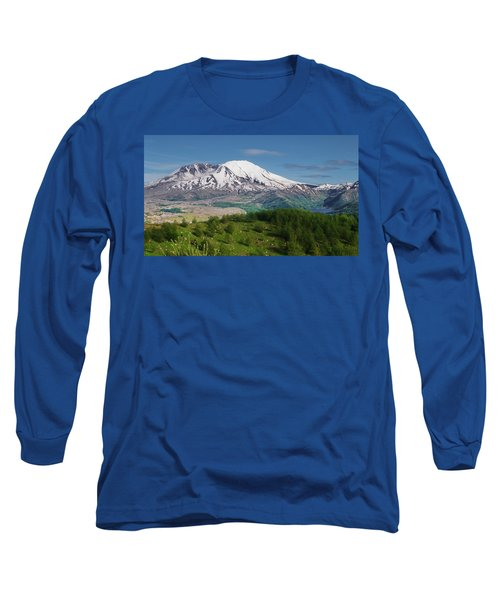 Castle Lake And Mt. St. Helens Long Sleeve T-Shirt