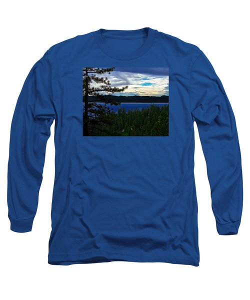 Long Sleeve T-Shirt featuring the photograph  Chrystal Blue Waters by B Wayne Mullins