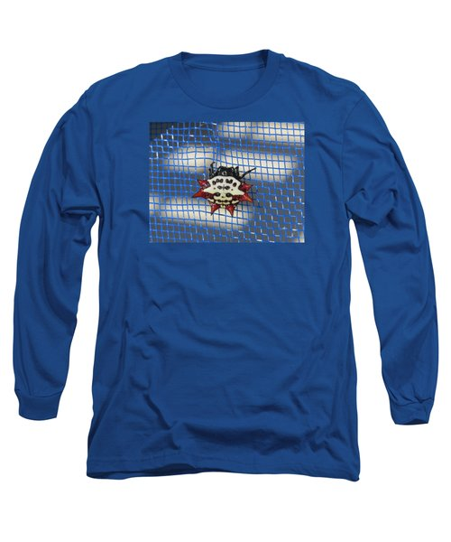 Long Sleeve T-Shirt featuring the photograph  Crazy Crab Spider by Melinda Saminski