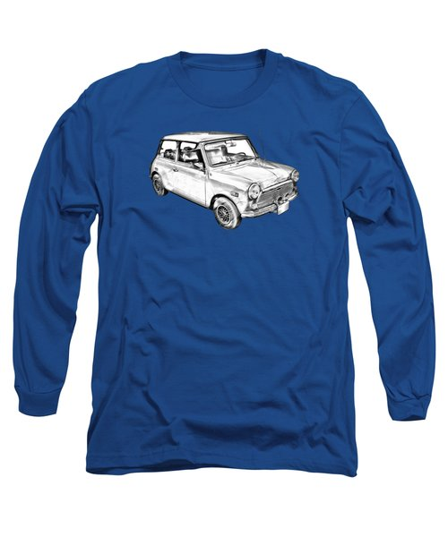 Mini Cooper Illustration Long Sleeve T-Shirt by Keith Webber Jr