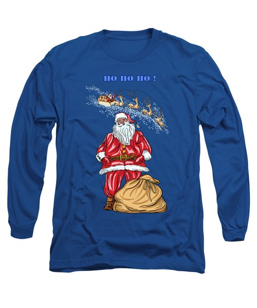Long Sleeve T-Shirt featuring the painting  Santa Claus by Andrzej Szczerski