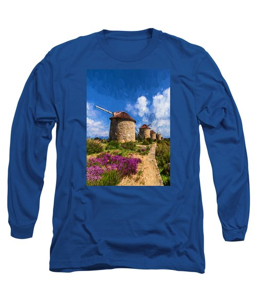 Windmills Of Portugal Long Sleeve T-Shirt
