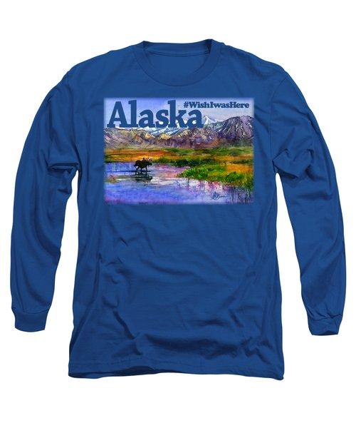 Alaskan Landscape Stream Shirt Long Sleeve T-Shirt