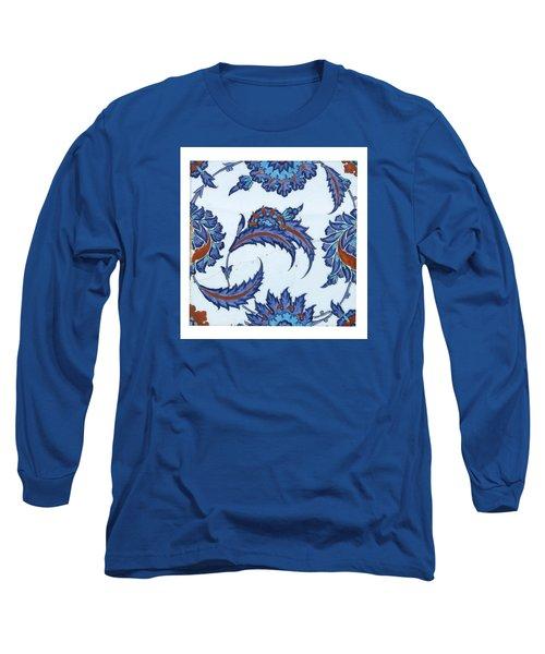 An Iznik Polychrome Pottery Tile Long Sleeve T-Shirt