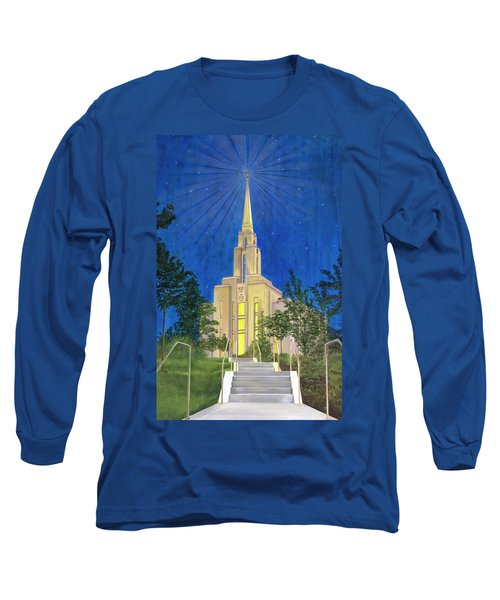 Long Sleeve T-Shirt featuring the painting Angel Portal by Jane Autry