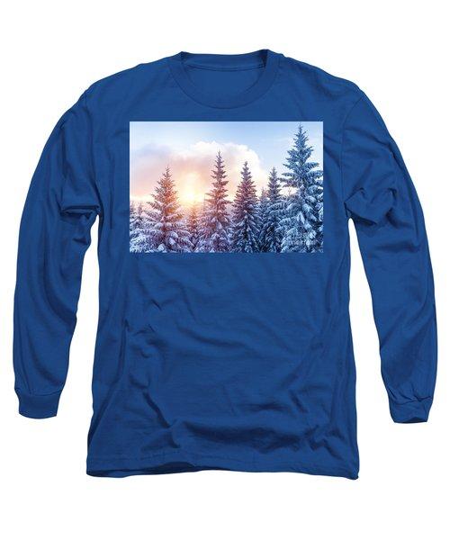 Beautiful Winter Forest Long Sleeve T-Shirt