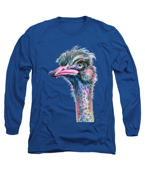 Blue-eyed Ostrich Long Sleeve T-Shirt