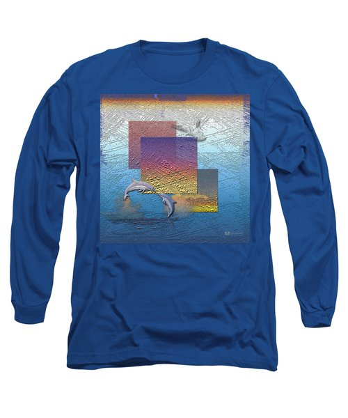 Blue Lagoon Sunrise  Long Sleeve T-Shirt by Serge Averbukh