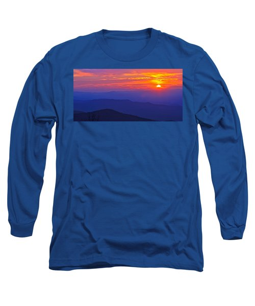 Blue Ridge Parkway Sunset, Va Long Sleeve T-Shirt