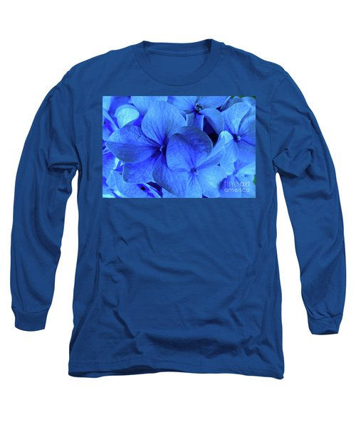 Long Sleeve T-Shirt featuring the photograph Blue by Nancy Patterson