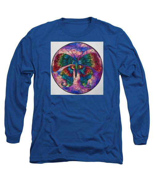 Butterfly Mandala Long Sleeve T-Shirt