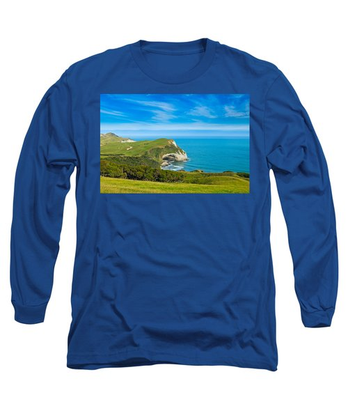 Cape Farewell Able Tasman National Park Long Sleeve T-Shirt by Ulrich Schade