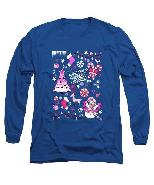 Christmas Long Sleeve T-Shirt by Mark Ashkenazi