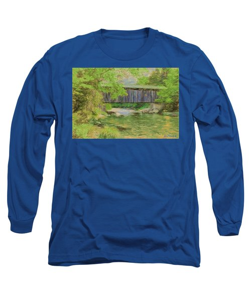 Cool And Green And Shady Long Sleeve T-Shirt by John Selmer Sr