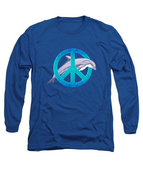 Dolphin Peace Long Sleeve T-Shirt by Chris MacDonald