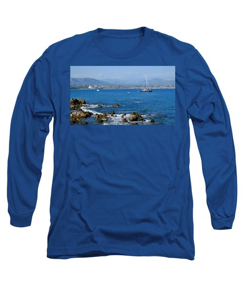 Long Sleeve T-Shirt featuring the photograph French Riviera by August Timmermans
