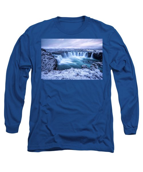 Godafoss Waterfall In Iceland Long Sleeve T-Shirt