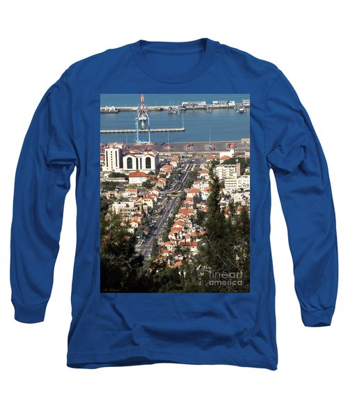 Long Sleeve T-Shirt featuring the photograph Haifa - The German Colony by Arik Baltinester