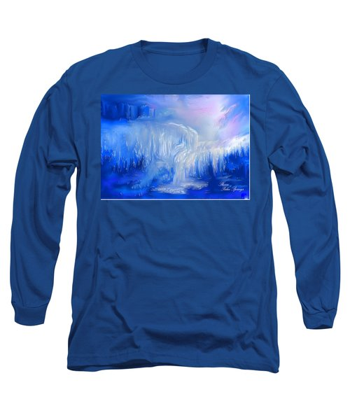 Ice Falls Long Sleeve T-Shirt by Sherri's Of Palm Springs