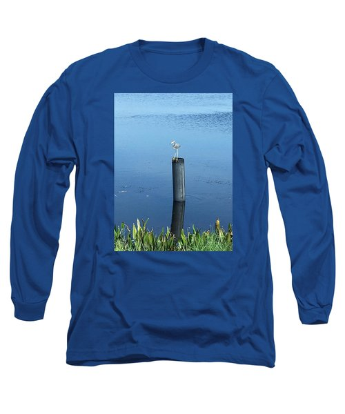 Little Blue Heron Long Sleeve T-Shirt by Kay Gilley