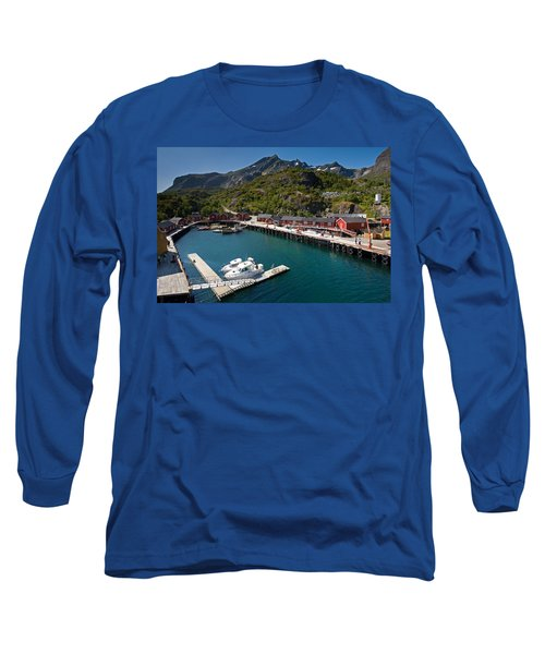 Nusfjord Fishing Village Long Sleeve T-Shirt