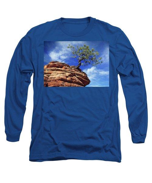Pine Tree In Sandstone Long Sleeve T-Shirt