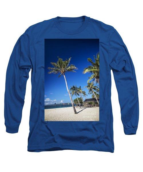 Puka Beach In Tropical Paradise Boracay Philippines Long Sleeve T-Shirt