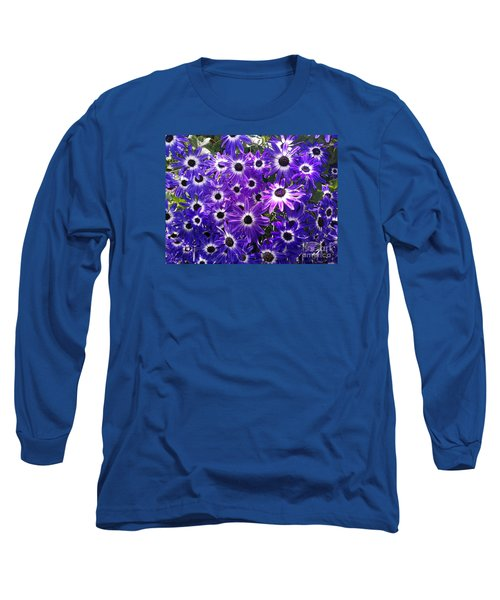 Long Sleeve T-Shirt featuring the photograph Purple Bunch by Haleh Mahbod