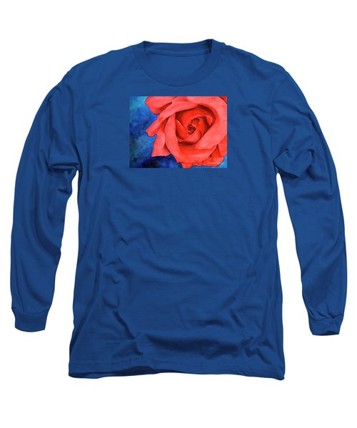 Red Rose Long Sleeve T-Shirt by Rebecca Davis