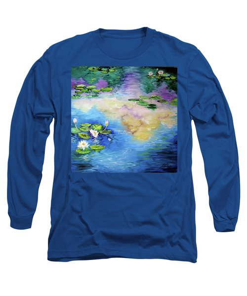 Reflections On A Waterlily Pond Long Sleeve T-Shirt