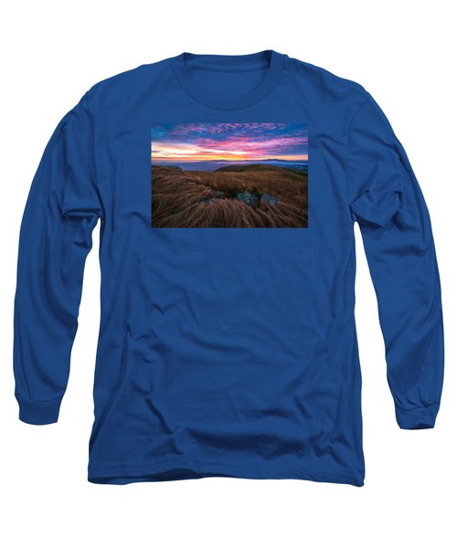 Roan Mountain Sunrise Long Sleeve T-Shirt by Serge Skiba