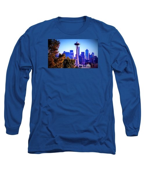 Seattle Afternoon Long Sleeve T-Shirt by Martin Cline