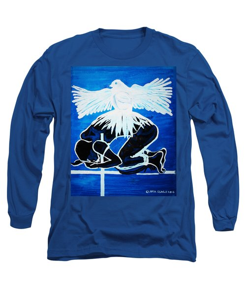 Slain In The Holy Spirit Long Sleeve T-Shirt by Gloria Ssali