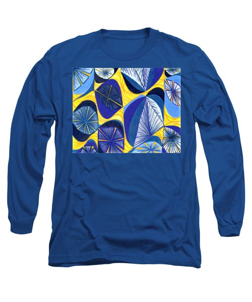 Long Sleeve T-Shirt featuring the drawing Solar Rays by Kim Sy Ok