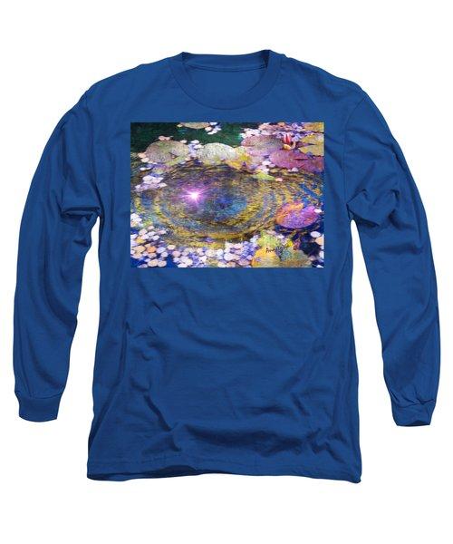 Sunglint On Autumn Lily Pond II Long Sleeve T-Shirt