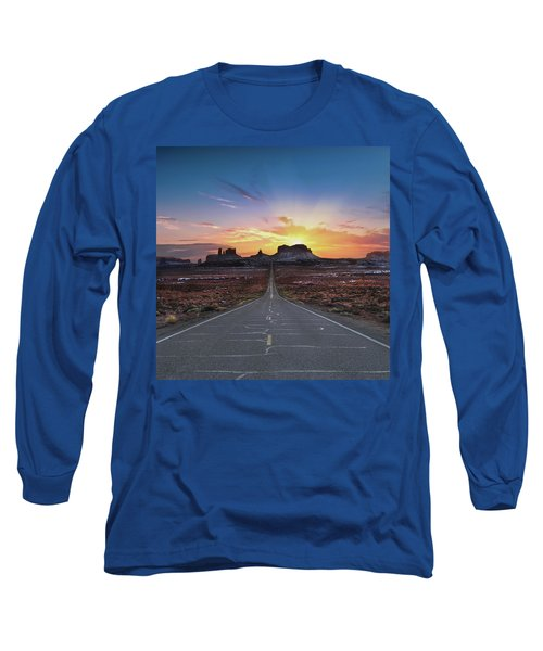 The Long Road To Monument Valley Long Sleeve T-Shirt