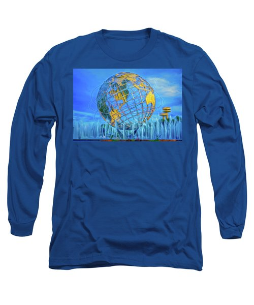 Long Sleeve T-Shirt featuring the photograph The Unisphere by Theodore Jones