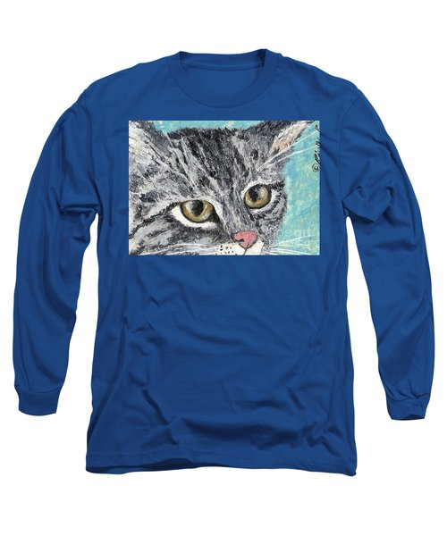 Tiger Cat Long Sleeve T-Shirt by Reina Resto