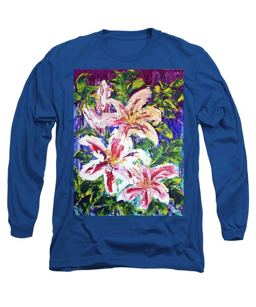 Tropical Flowers Long Sleeve T-Shirt