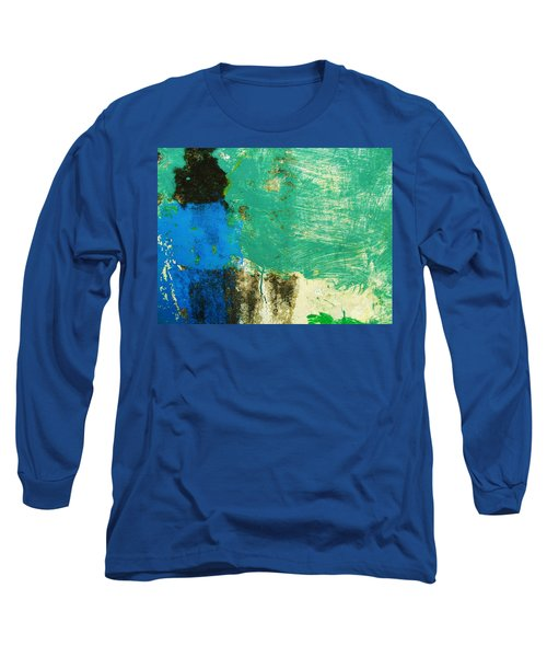 Wall Abstract 70 Long Sleeve T-Shirt by Maria Huntley