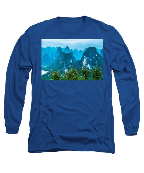 Karst Mountains Landscape Long Sleeve T-Shirt